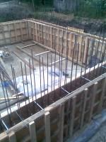 Стены цокольного этажа, подготовка