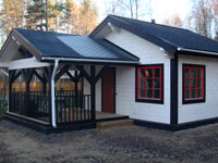 Финская баня из клееного бруса