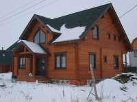 Дом, клееный брус Олики