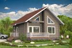 Кеми 82, двухэтажный загородный дом из бруса