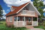 Иматра 102, дом из клееного бруса 8.00 x 6.50 м