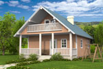 Лахти 120, каркасно-панельный дом 7.74 x 9.81 м
