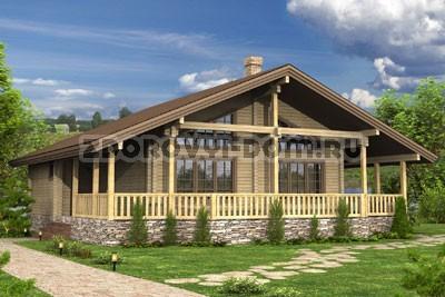 132 загородный дом из клееного бруса