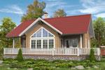 Кеми 143, загородный дом из клееного бруса