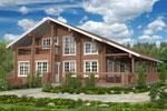 Кеми 287, загородный дом из клееного бруса